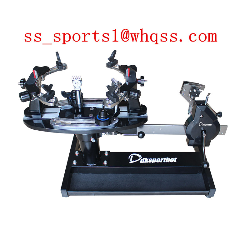 Manual table badminton and tennis dual-use racket stringing machine
