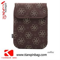10 inch flower print neoprene felt laptop sleeve