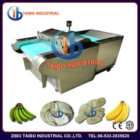electric automatic fruits processing tools cavendish banana slicing machine YQC660 0.75Kw