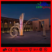 White Water falling fountain shape lighting arch motif lights