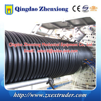 Diameter 300-3000mm HDPE PP plastic Profiles Spiral Winding Krah Corrugated Pipe Production Line extrusion making machine