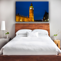 New design lighted led city night framed wall art picture