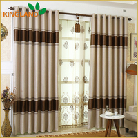 100% Poly Jacquard Blackout Fabric Custom Curtains Made In China