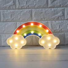 hot sale Christmas gifts home party decor Rainbow coloured drawing night light
