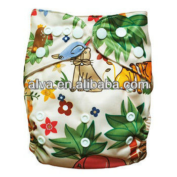 One Pocket Reusable Embroidery Cloth Diapers 2013 New