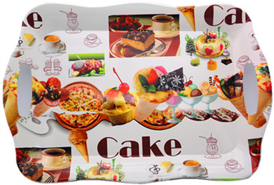 2016 new design pizza printing plastic packing tray,plastic serving tray