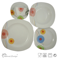 round ceramic porcelain with fashion design dinnerware sets