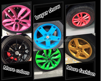 More fashionable plastic car rim peelablle spray paint