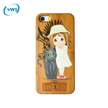 2017 Aliexpress hot selling 3D color carving case for iphone 5 5S 5C SE,3D wood color printing case for iphone 5