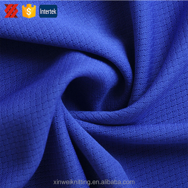 Wholesale 100 polyester weft sports thin check mesh clothing fabric t-shirts online