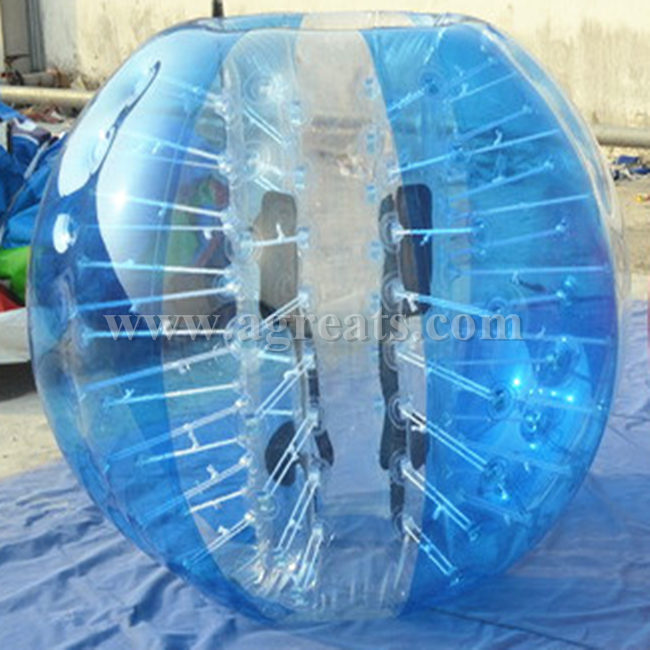 Crazy inflatable bubble suits and bubble ball for football with comfortable handles and belts GB7141