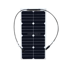 High efficiency Sunpower cell Semi Flexible solar panel 25W