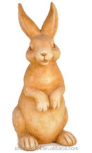 resin concrete animal rabbit statue home garden decoration