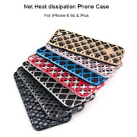 Hollow out Net style PC TPU 2 in 1 Hybrid shock proof Heat-resistant Phone Case For iPhone 6 Plus 6s