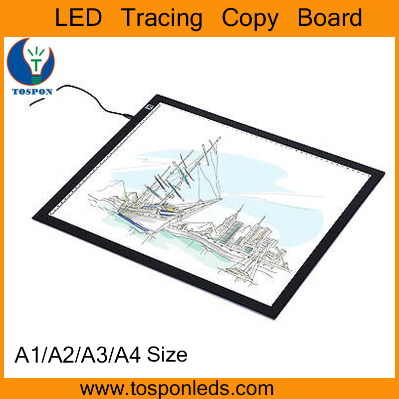 A1 A2 A3 A4 Size Ultrathin Brightness Adjustable LED Tracing Drawing Board Tattoo Light Box