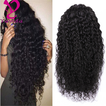 Human Hair Full Lace Wigs kinky curly full lace wig wet and wavy virgin brazilian hair brazilian wavy hair