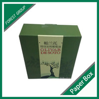 RECYCLABLE TWO PACK CUSTOM BOX FOR OLIVE OIL PACKAGING