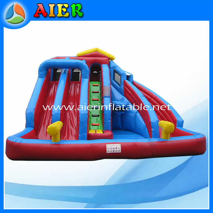 yuele Giant Blue and Red Inflatable Slide for sell