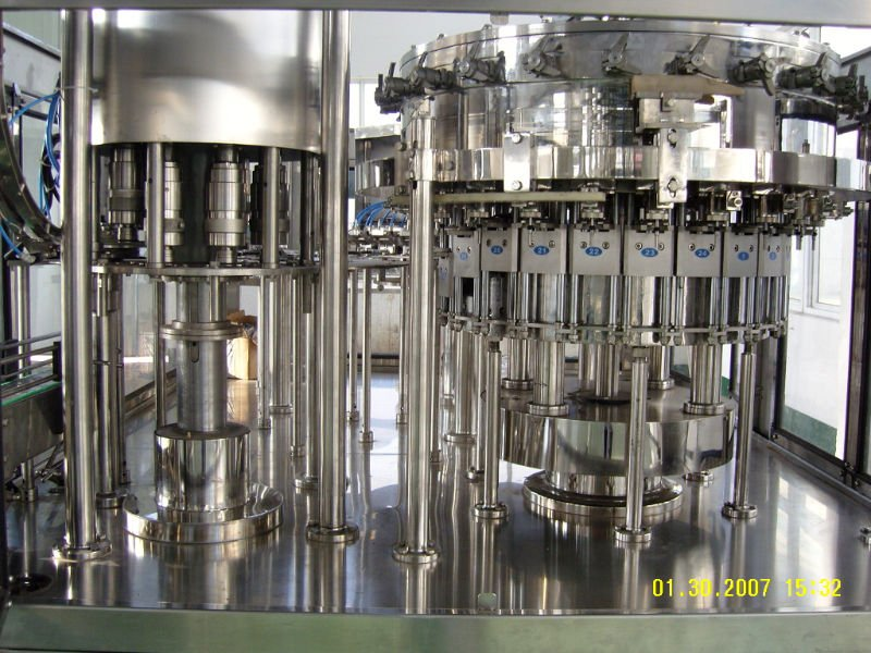 soda water filling line