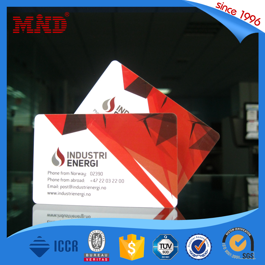 MDP96 Ntag213 NFC Christmas Business Card Transparent in Plastic Cards