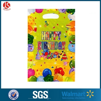Fashionable balloons plastic party loot bags gift bag for kids