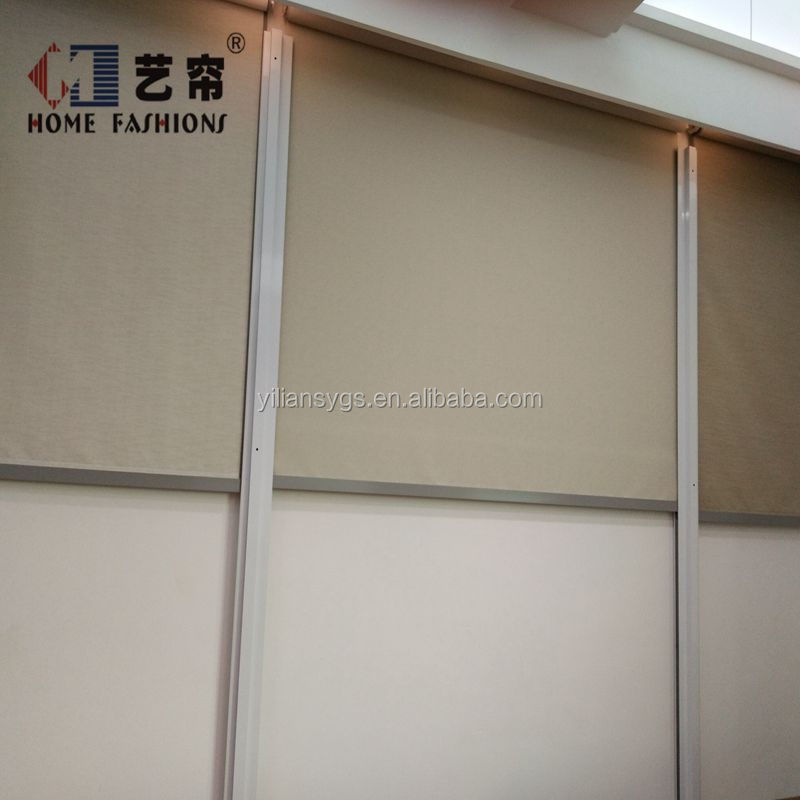 Motorized Outdoor Roller Blinds with Zipper