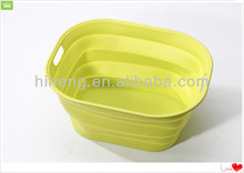 2014 Hot sale! Kitchenware Foldable Design Silicone Custom Basket for seafood and vegetables