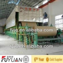 FY-2100mm high quality and best price cardboard recycling machine to produce fluting paper jumbo roll