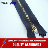 No.4 nickel brass jeans zipper with YG slider c/e ( H stop)