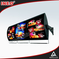 Acrylic Material Fast Food Restaurant Rotating Menu Display Advertising Led Light Box