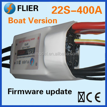 Flier HV 400A 22S rc boat brushless contreoller Motor for ESC