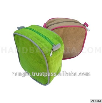 organic cotton, hemp and linen cosmetic bags for wholesale