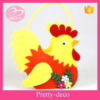 cheapest !!! yellow chick felt easter basket made in China