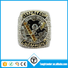 Top Quality Fashion Colourfast Hockey Championship Ring With Blink Crystal