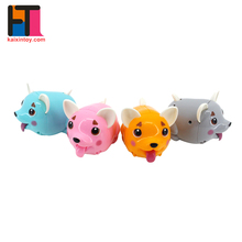 alibaba china lovely moveable plastic friction power cartoon pig toy with multi-color