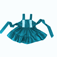 2018pretty blue lace princess dress wholeale boutique casual baby clothes fashion girl dress
