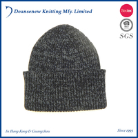 Customize Fashion Cheap 60% Cotton/30% Nylon/10% Merino Wool Stripe Winter Adult Men Teen Boy Multi Color Rib Knit Beanie Hat