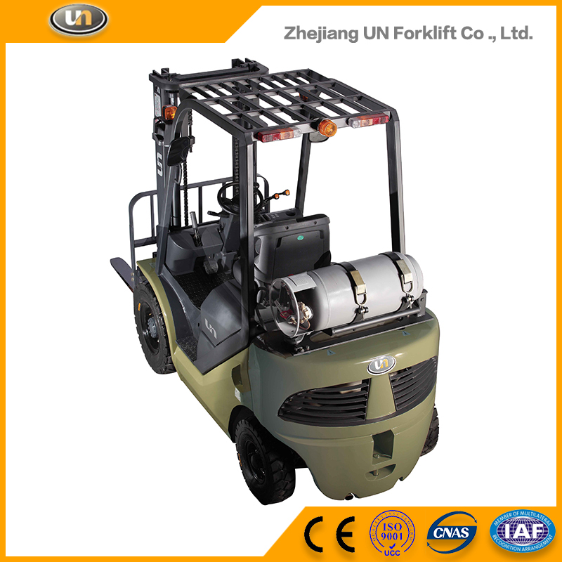 Dual Fuel 2 Ton Gasoline Engine Power Lonking Light LPG Fork Lift Truck