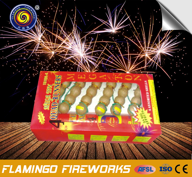 "Quality relief Quad Runners 1.5"" fireworks bombs"