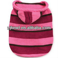 Striped Knit Dog Hoodies Puppy Sweater