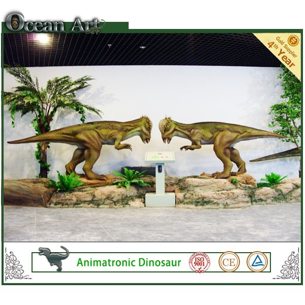 realistic dinosaur world metal sculpture jurassic dinosaur game
