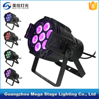 Buy slim par light indoor powercon in out 18*18W RGBWAUV 6in1 in ...