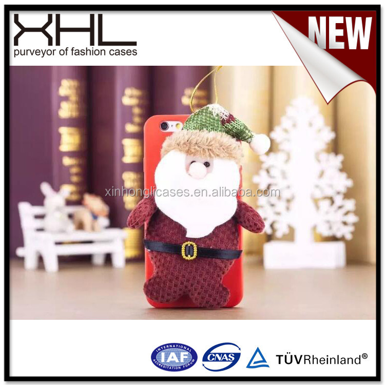 FOR Iphone 6S Silicone Christmas Santa Claus cute Low cost cell phone case