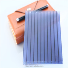 6mm colored double wall polycarbonate hollow sheet