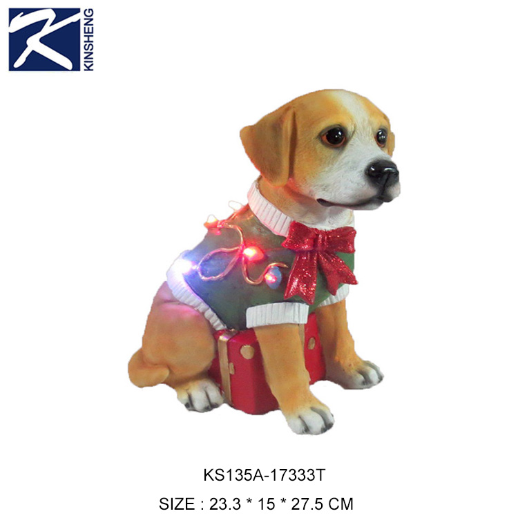 outdoor lighted christmas dog figurines decorations yard ornaments wholesale