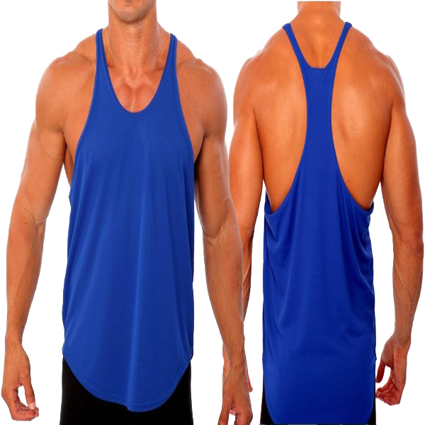 Cotton Men's Blank Stringer Y Back Tank Top (YCT-C0308)