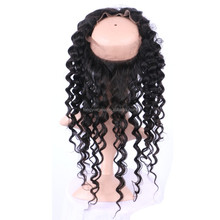 360 Lace Frontal Indian virgin hair Human Hair Wigs With Baby Hair mink 360 frontal for black women