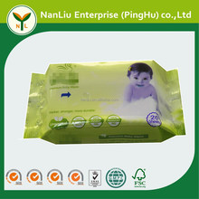 Unscented 100% fluorescent free cheap baby cleaning wet wipes china 20P