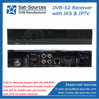 IPTV Satellite Receiver with IKS for Middle East and Europe and with IPTV for Arabic Channels