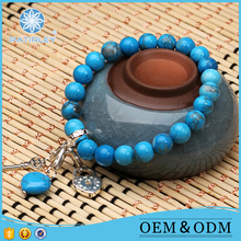 Natural turquoise jewelry gemstone beads bracelets